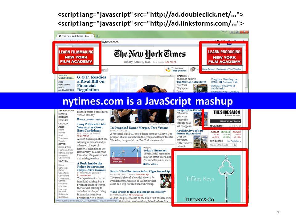 7 nytimes.com is a JavaScript mashup