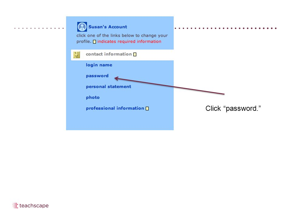Click password.