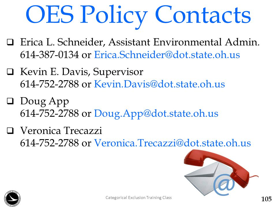  Erica L. Schneider, Assistant Environmental Admin.