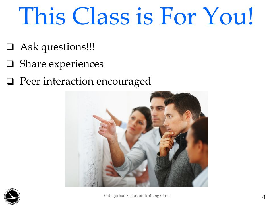 Introductions  Name  Company/Position  Environmental /CE Experience  Class Expectations Thanks for coming .
