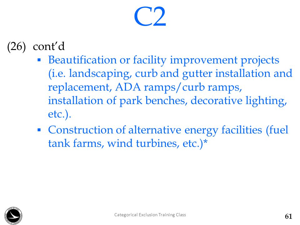 (26)cont'd  Beautification or facility improvement projects (i.e.