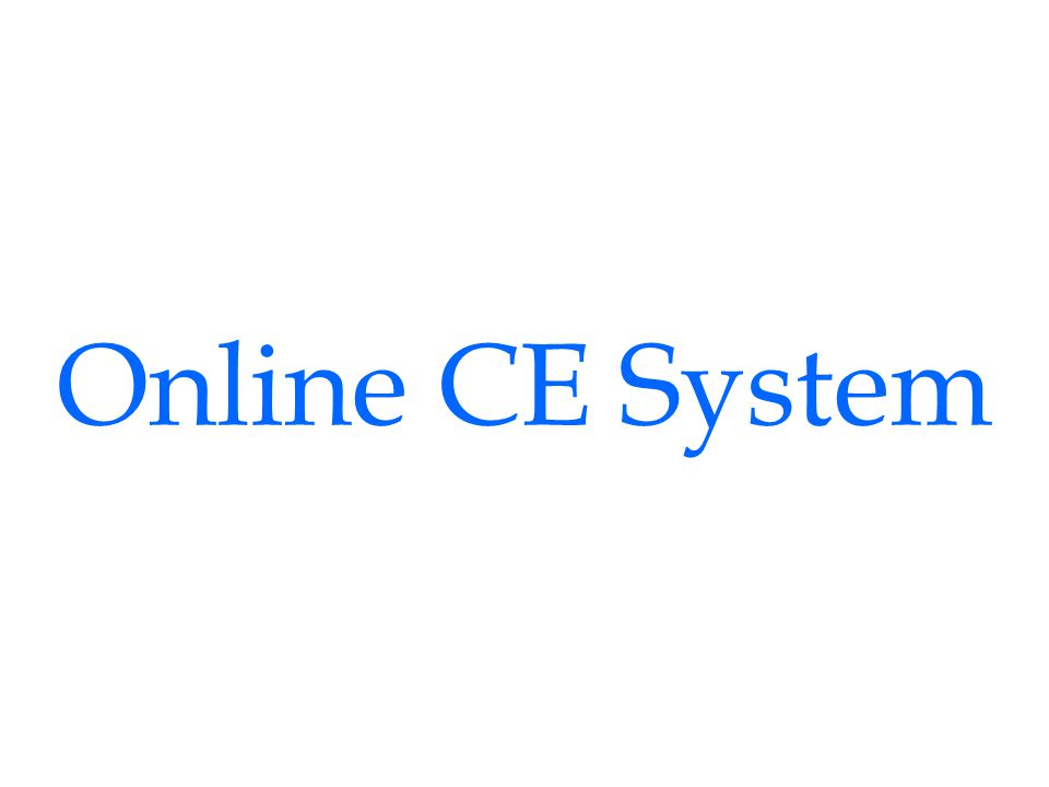 Online CE System