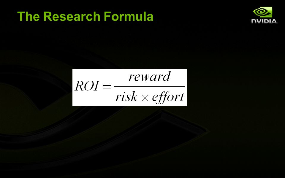 The Research Formula