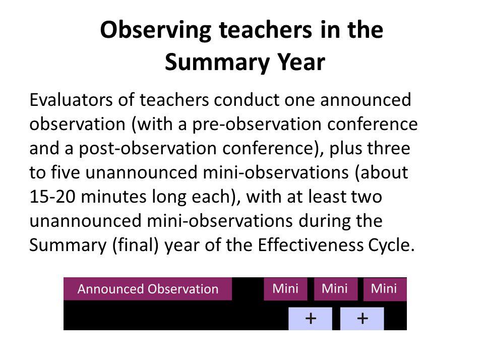 Mini Observation Educator gathers evidence and artifacts of progress towards Educator Effectiveness Plan (EEP) Non-Summary Year