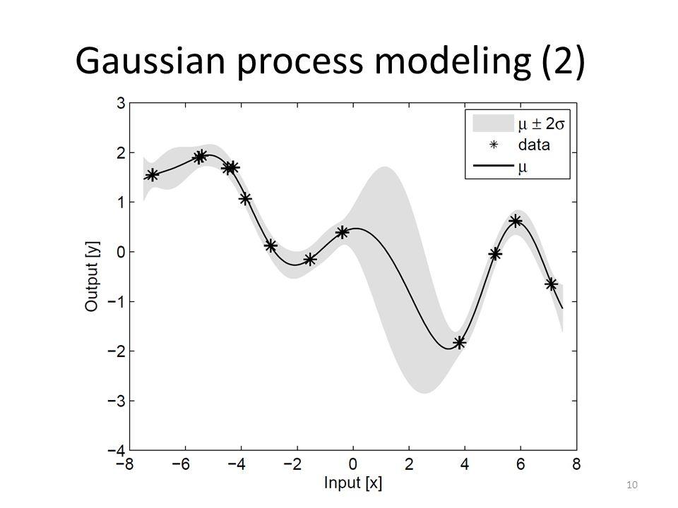 Gaussian process modeling (2) 10