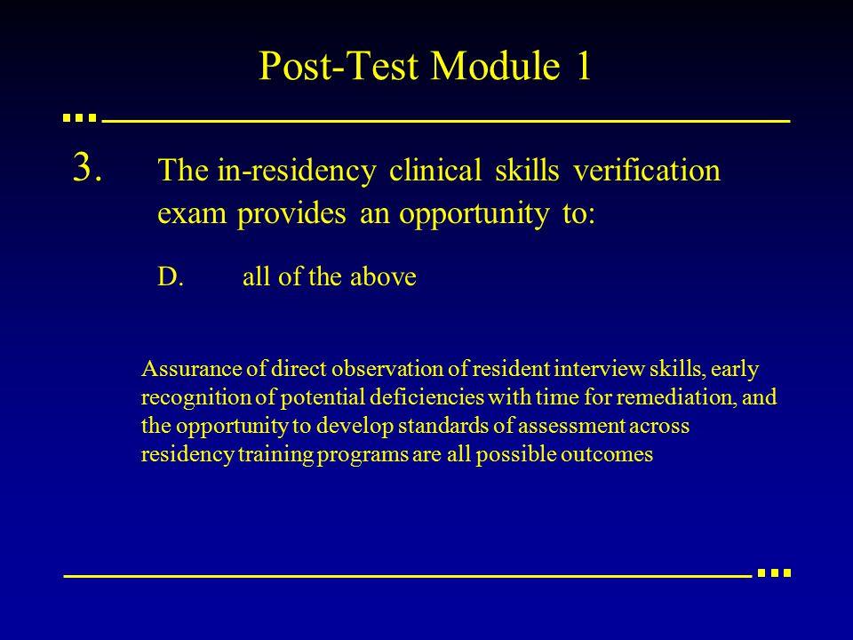 Post-Test Module 1 3.