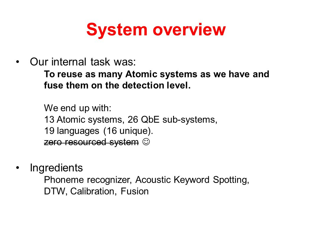 System overview Igor's Greeting