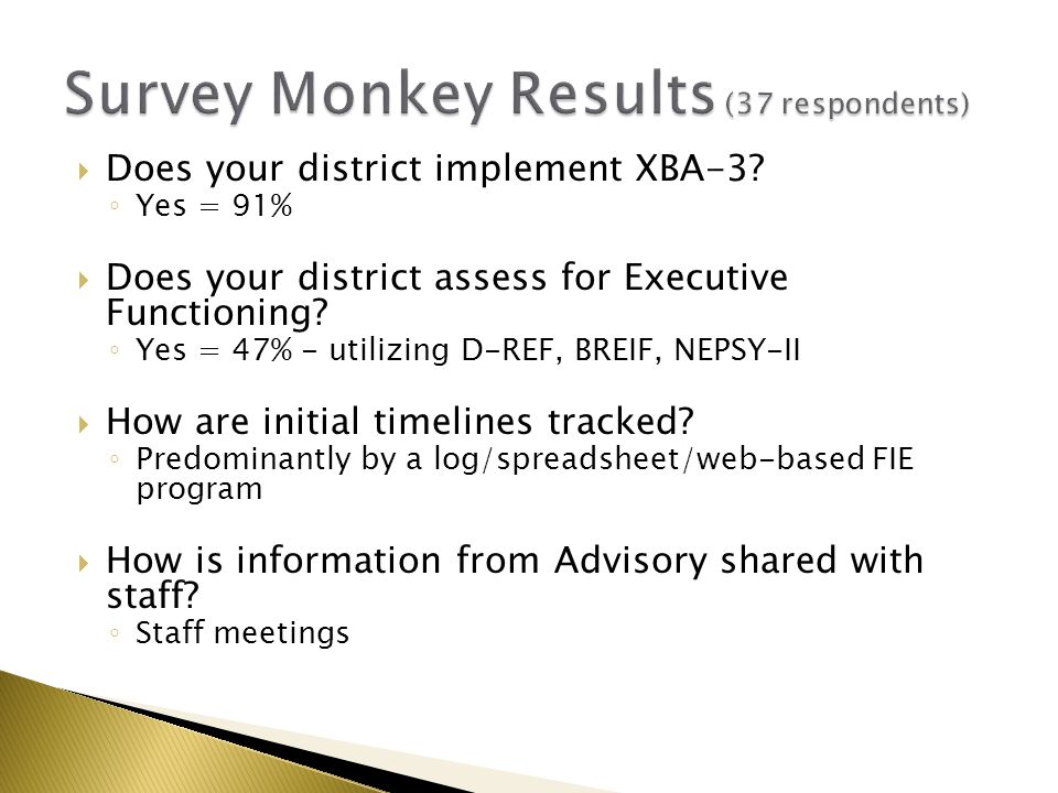  Does your district implement XBA-3.