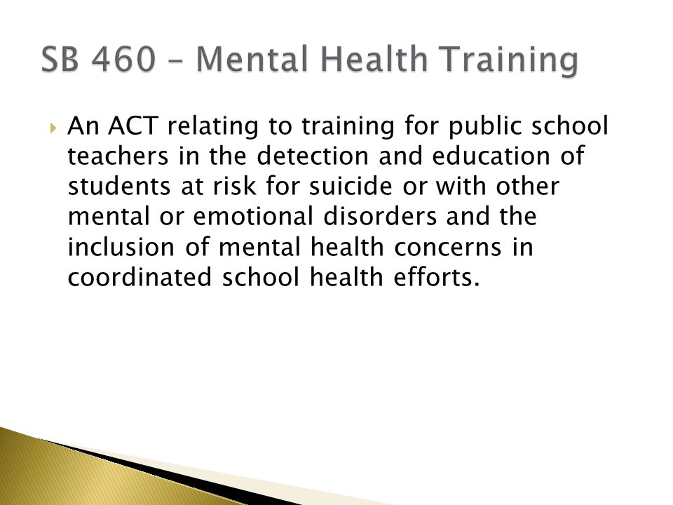  An ACT relating to training for public school teachers in the detection and education of students at risk for suicide or with other mental or emotional disorders and the inclusion of mental health concerns in coordinated school health efforts.