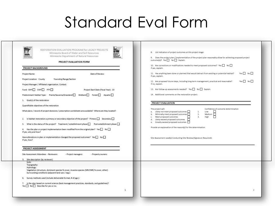 Standard Eval Form