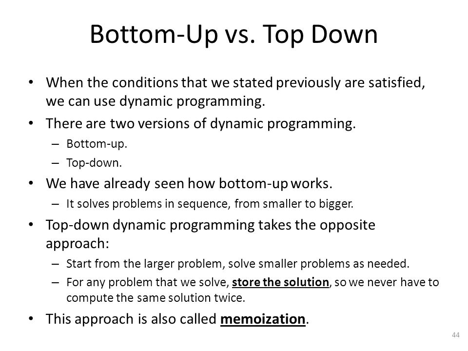 Bottom-Up vs.
