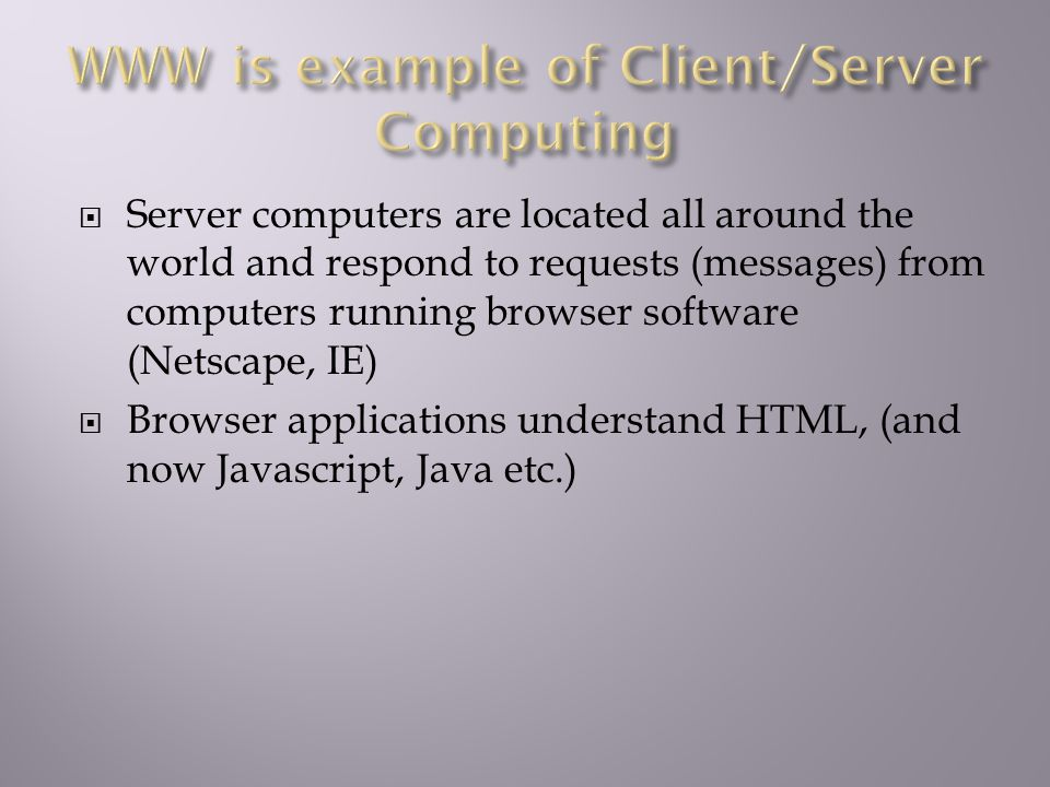 We will look at unix and how we can use it to develop web applications.