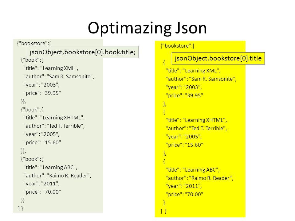 Optimazing Json {