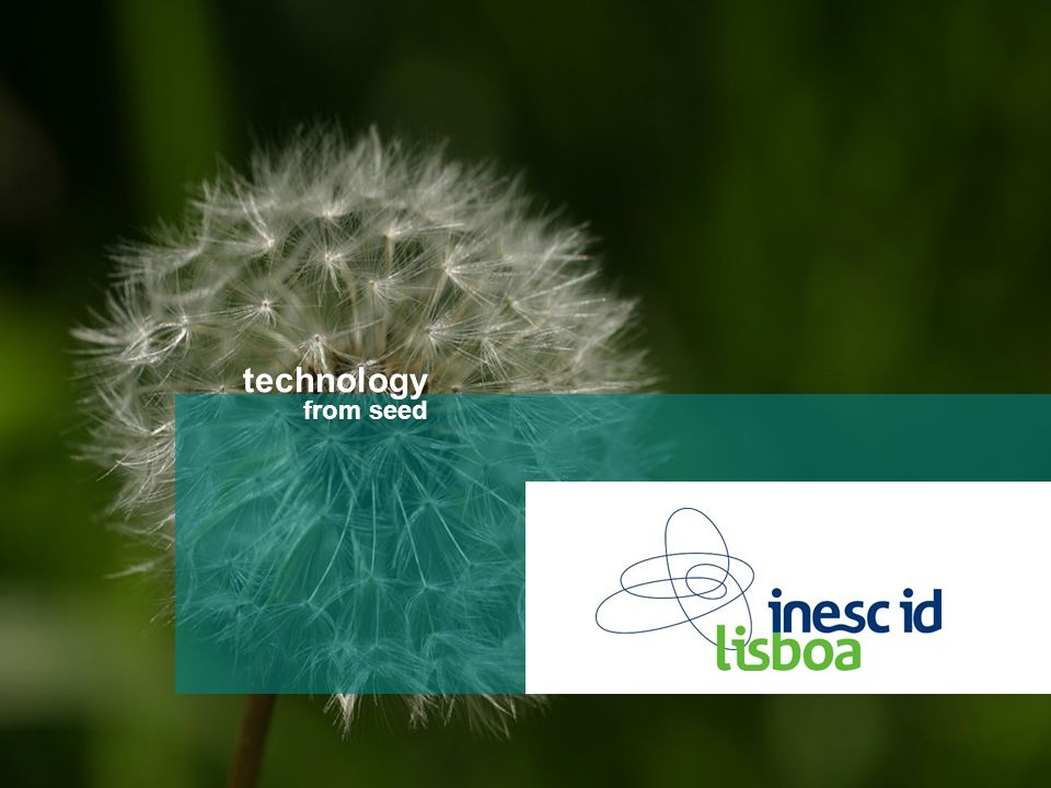 technology from seed Título da apresentação technology from seed