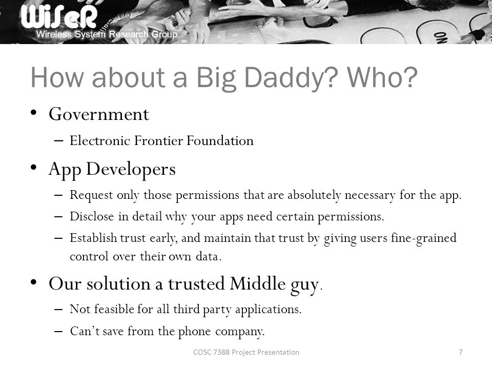How about a Big Daddy. Who.