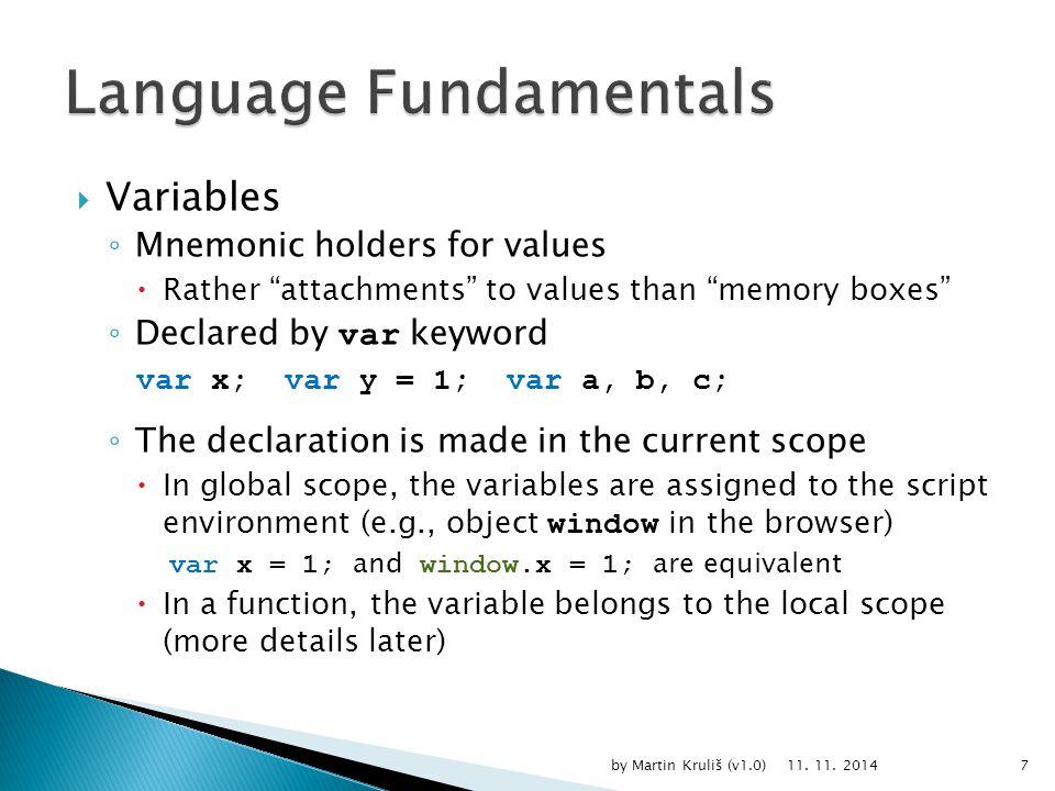  Block Scope ◦ C++, C#, Java if (x < 0) { bool negative = true; } else { bool negative = false; } // negative does not exist here … 11.