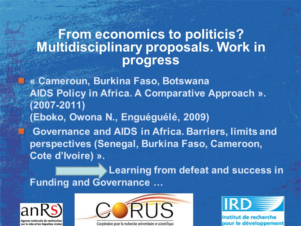 From economics to politicis. Multidisciplinary proposals.
