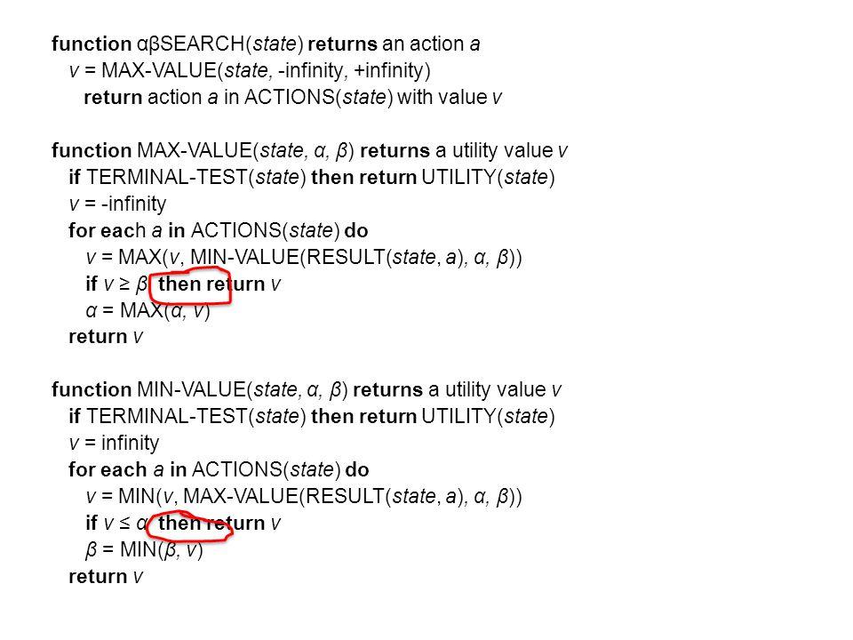Node Order Matters 5 5 7 7 2 2 4 4 8 8 10 8 8 7 7 3 3 B B D D C C A A MAX min Best ordering for maximum pruning?
