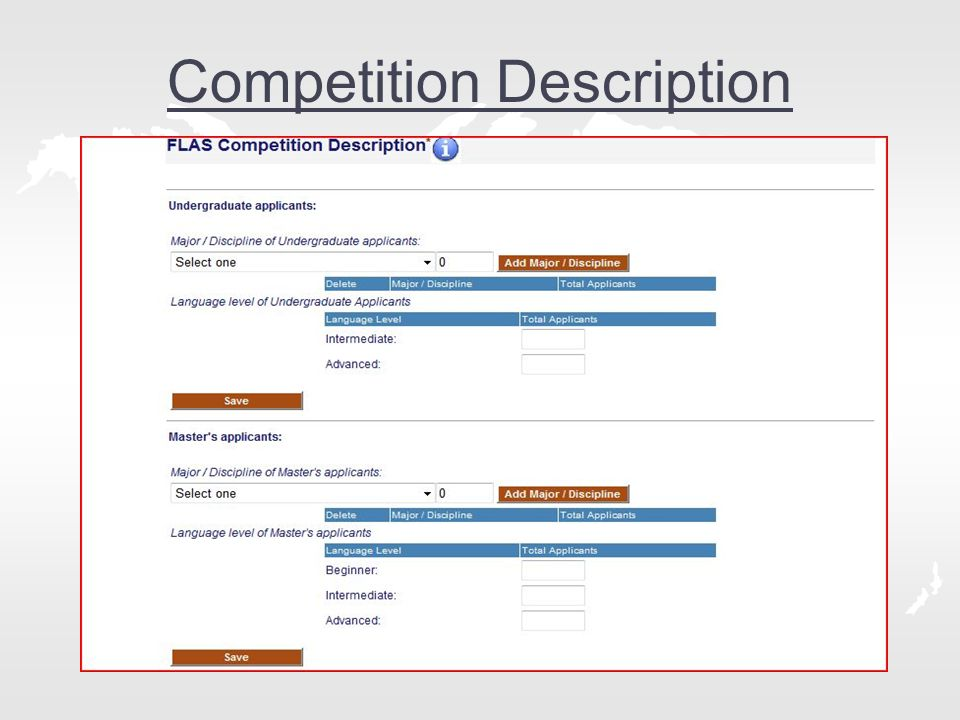 Competition Description
