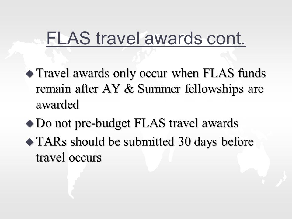 FLAS travel awards cont.