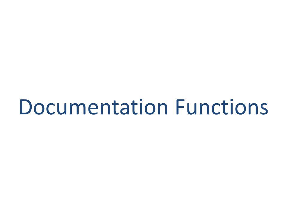 Documentation Functions