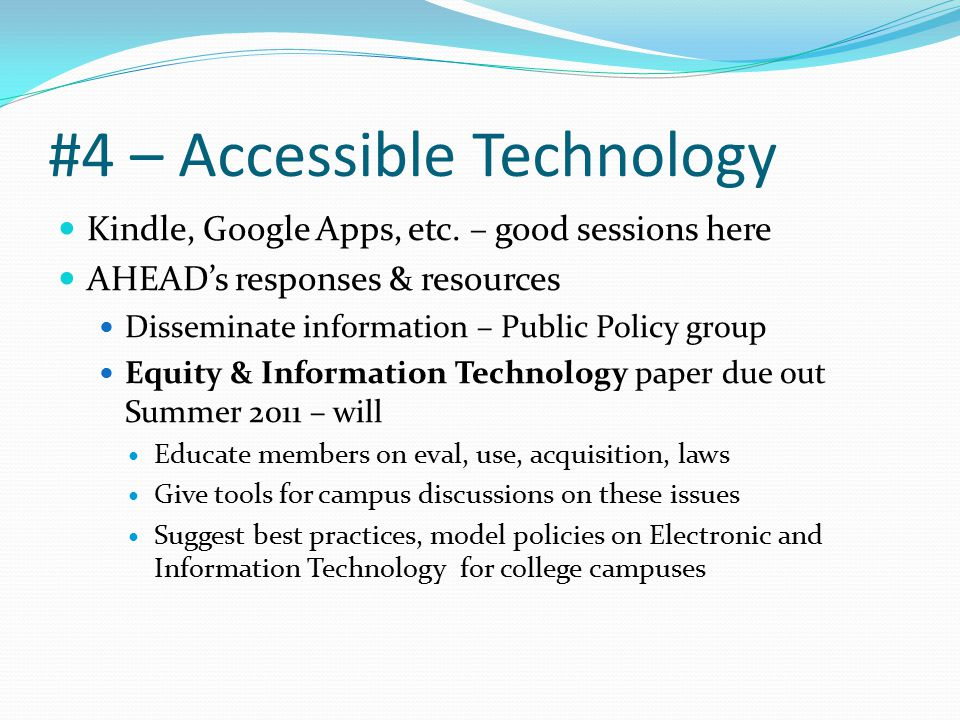 #4 – Accessible Technology Kindle, Google Apps, etc.
