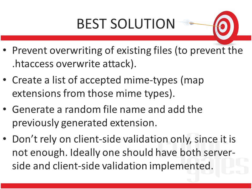 BEST SOLUTION Prevent overwriting of existing files (to prevent the.htaccess overwrite attack).