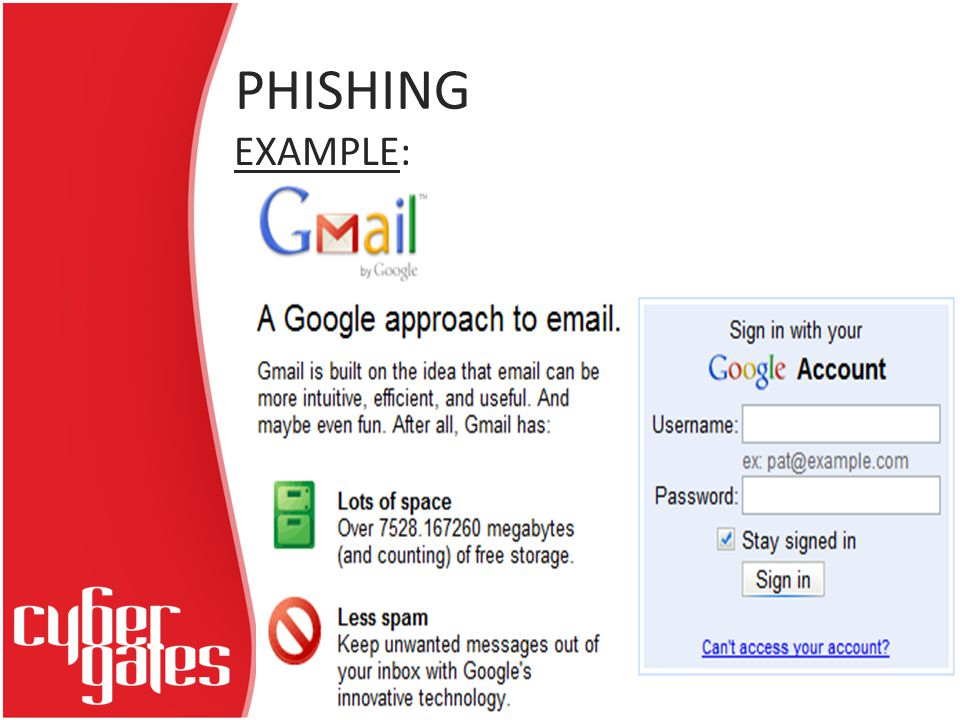PHISHING EXAMPLE: