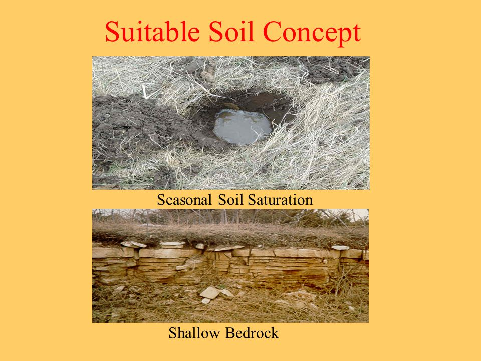 Suitable Soil Concept Seasonal Soil Saturation Shallow Bedrock