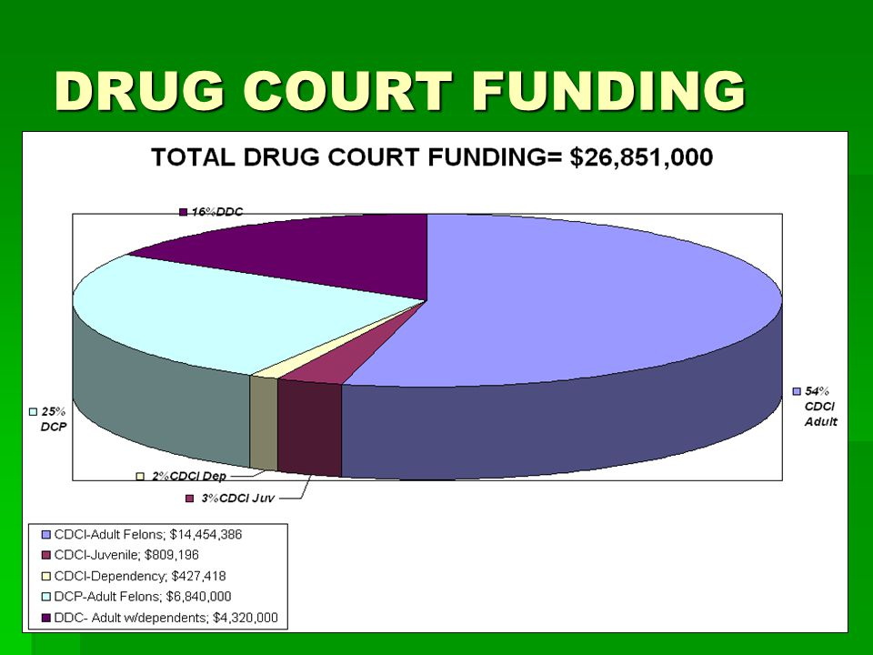 DRUG COURT FUNDING