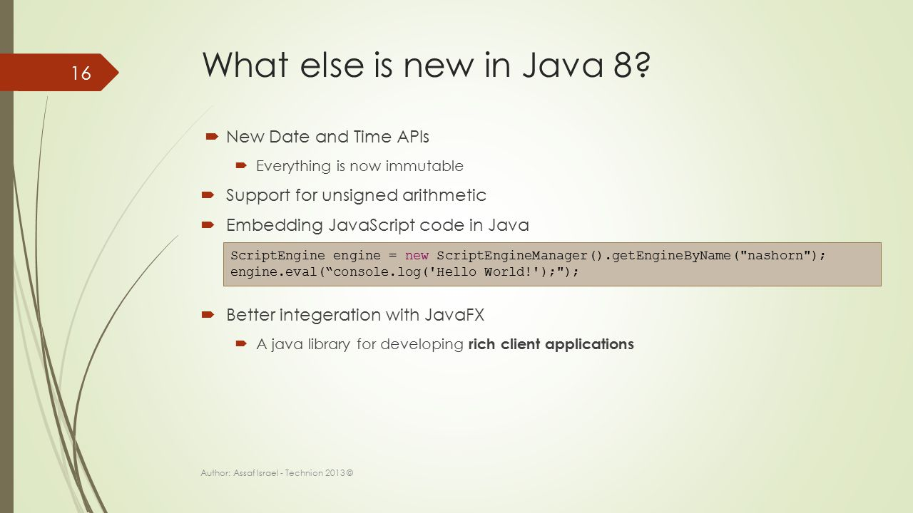 What else is new in Java 8.