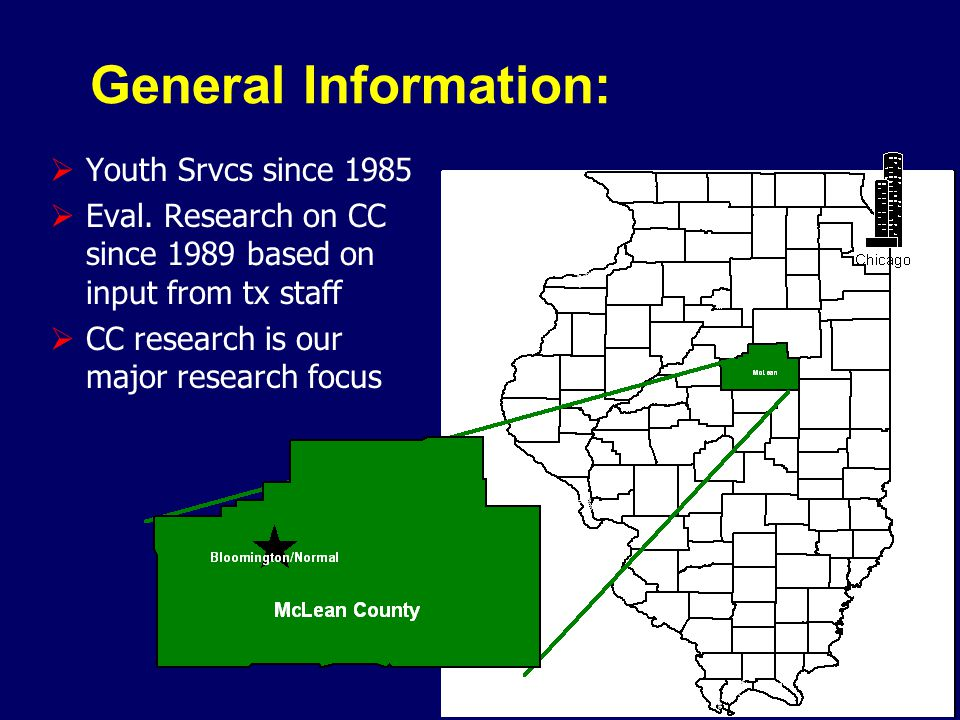 General Information:  Youth Srvcs since 1985  Eval.