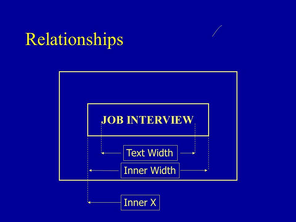 Relationships JOB INTERVIEW Text Width Inner Width Inner X