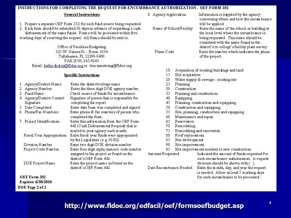 4http://www.fldoe.org/edfacil/oef/formsoefbudget.asp