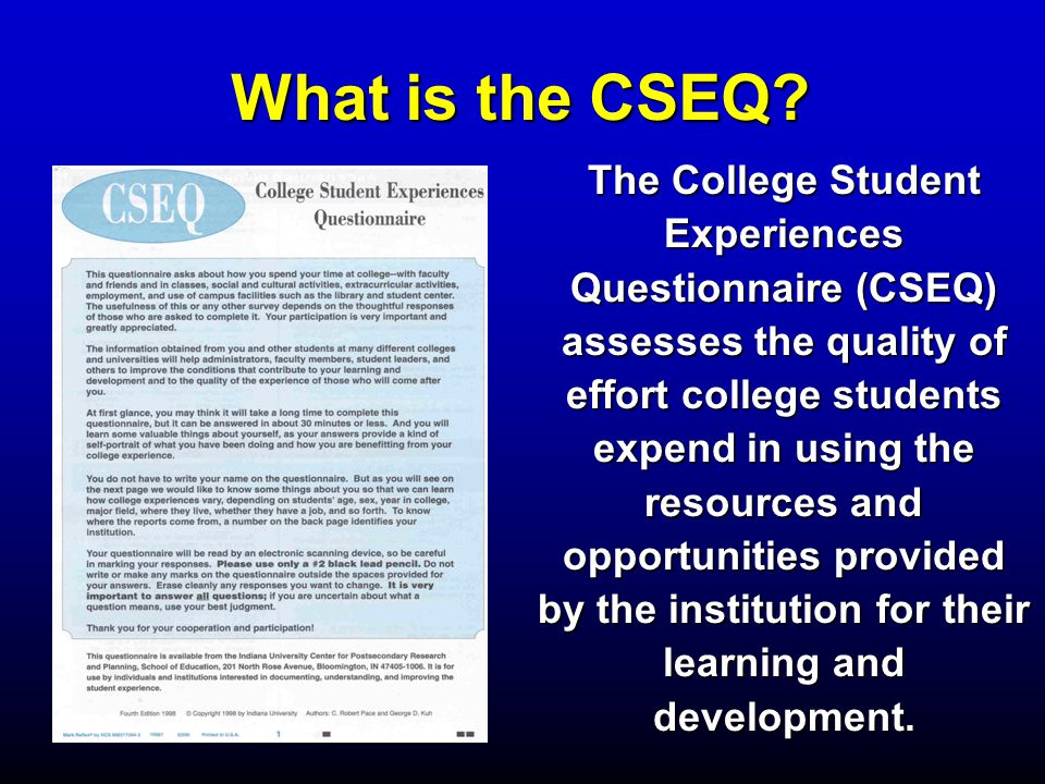 What is the CSEQ.