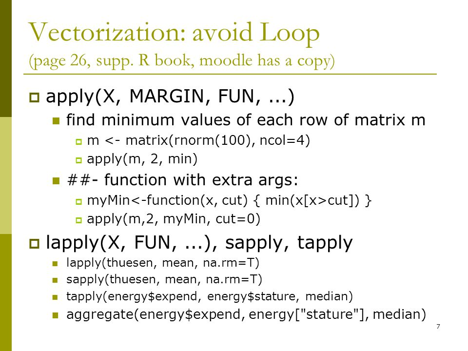 Vectorization: avoid Loop (page 26, supp.