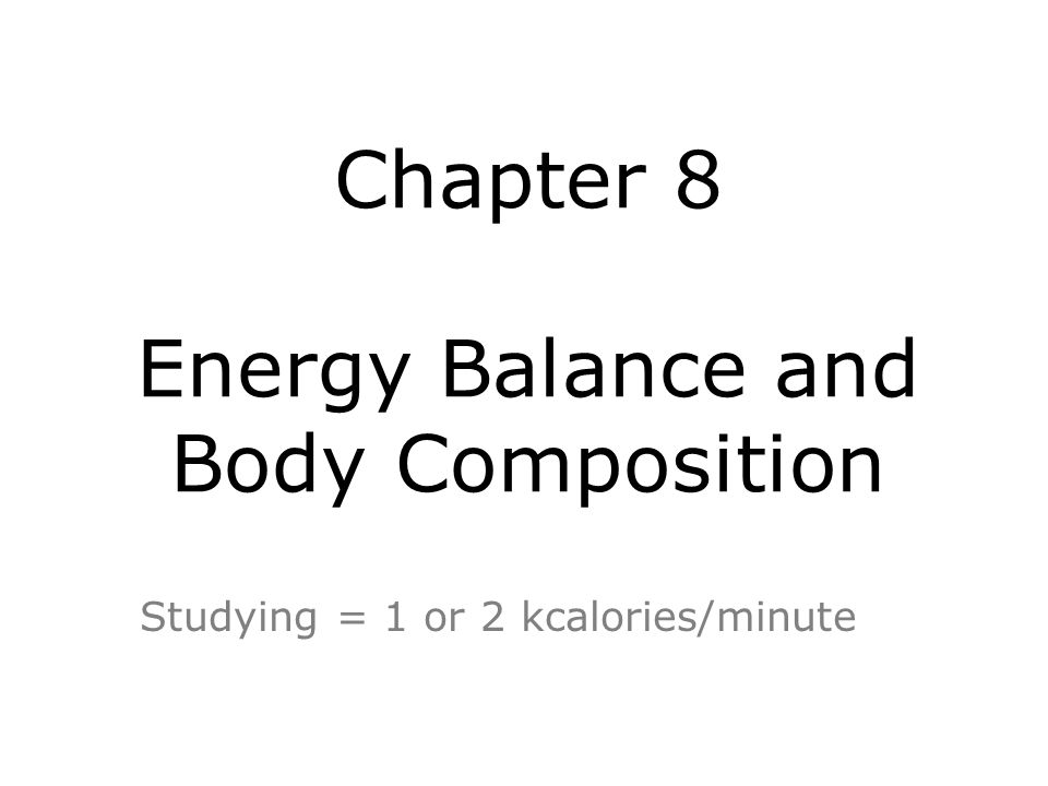 The Three Components of Your Energy Needs