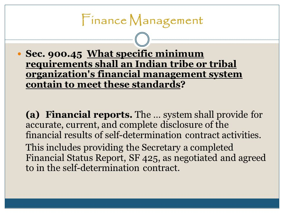 Finance Management Sec.
