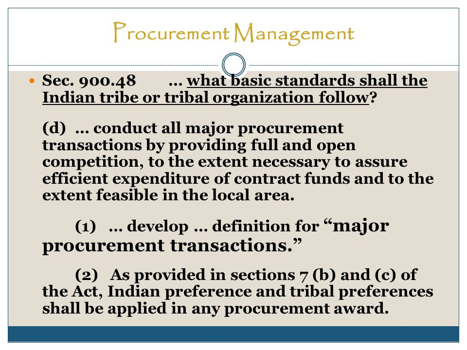 Procurement Management Sec.