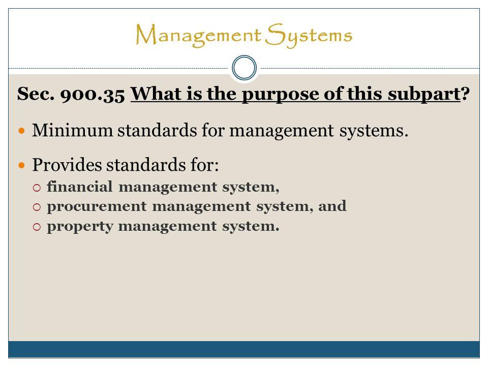 Management Systems Sec.