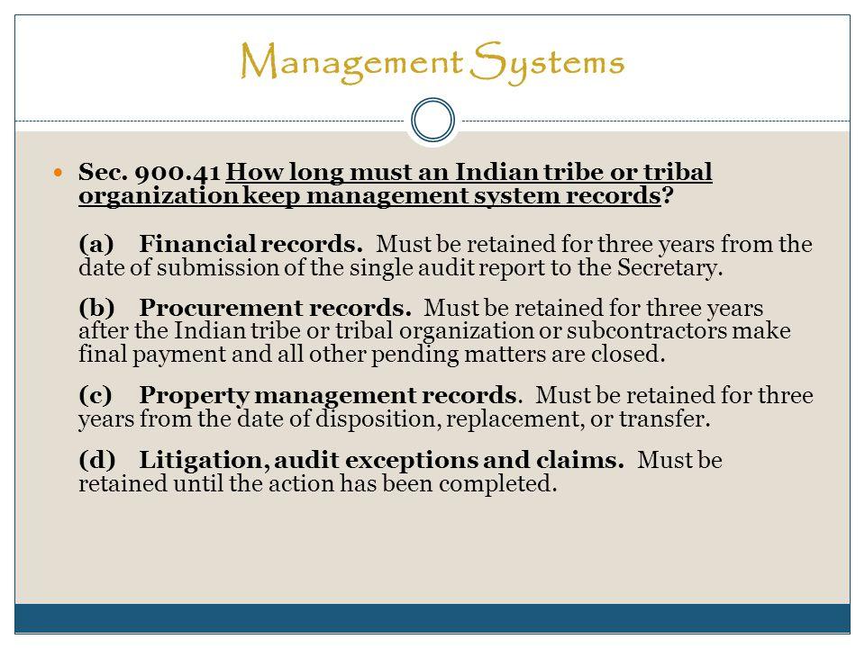 Property Management Sec.900.54 Should the property management system prescribe internal controls.