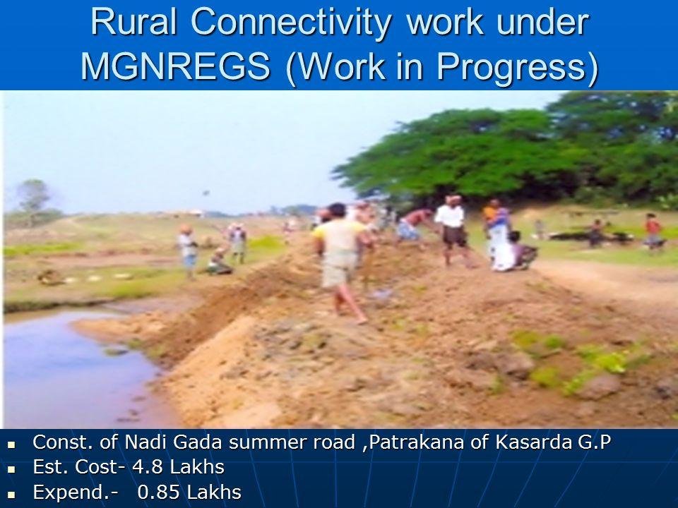 Rural Connectivity work under MGNREGS (Work in Progress) Const.