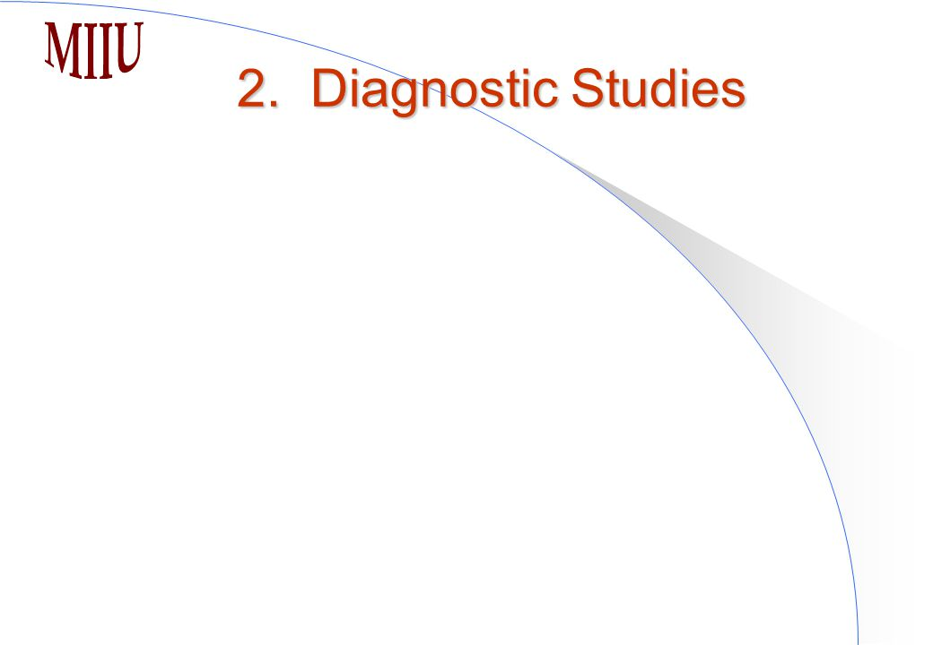2. Diagnostic Studies