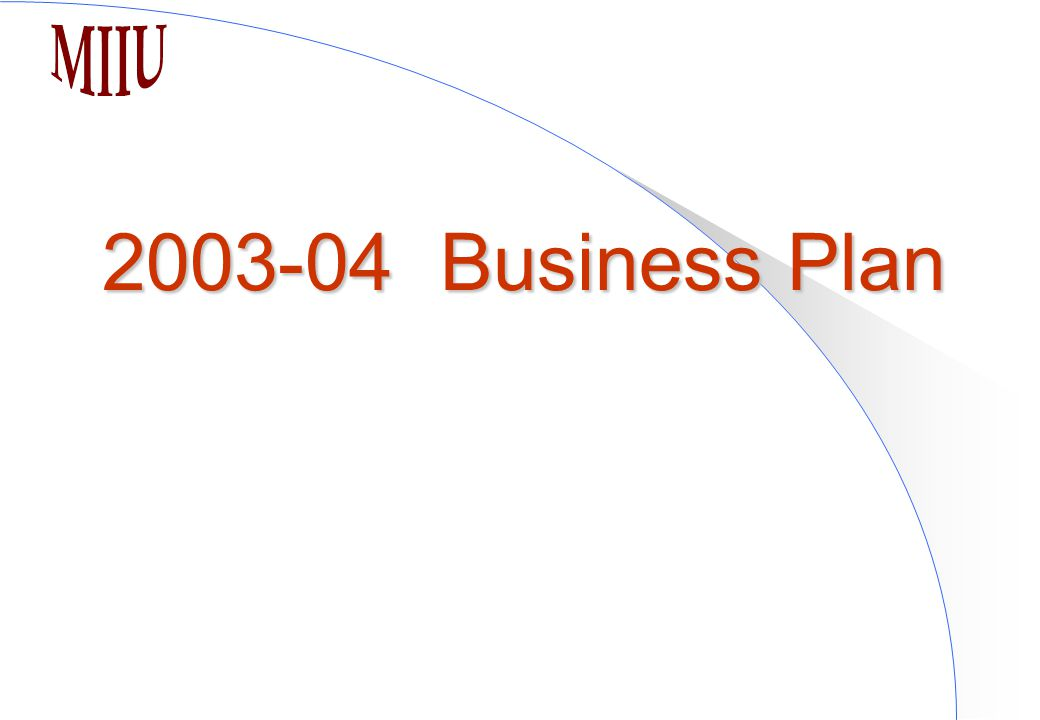 2003-04 Business Plan
