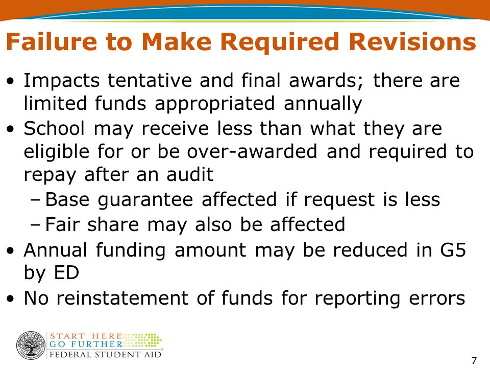 Impacts tentative and final awards; there are limited funds appropriated annually School may receive less than what they are eligible for or be over-a