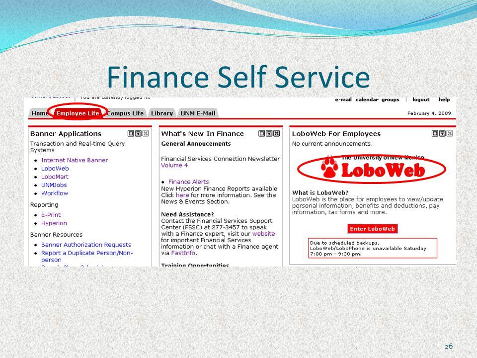 Finance Self Service 26