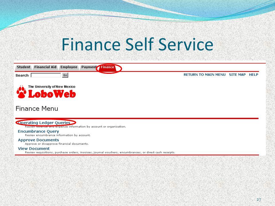 Finance Self Service 27