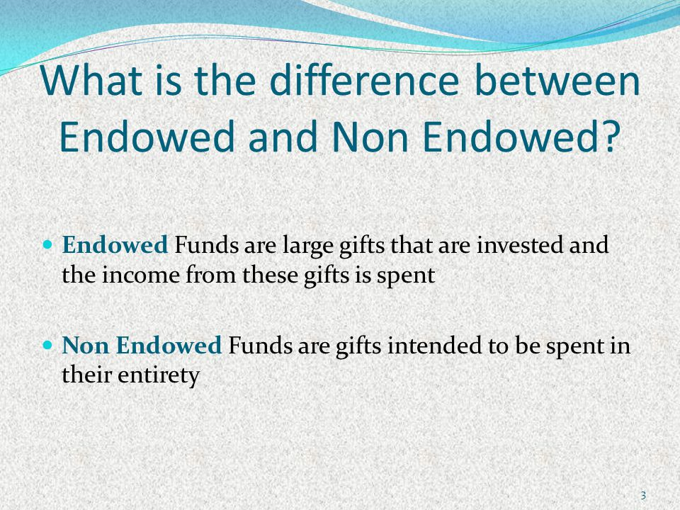 Other uses for FORH004 Locating all your Endowed and Non Endowed Spending Indices On the report, look for the funds that hold your Endowed and Non Endowed funds (see page 5 of the Manual for list).