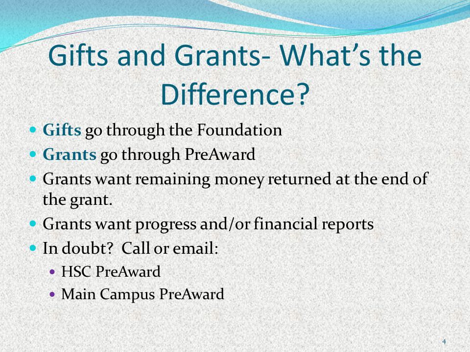 Gifts and Grants- What's the Difference.