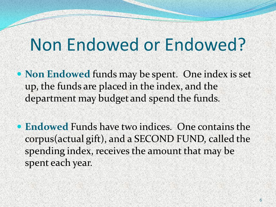 Banner and Endowed Funds 17